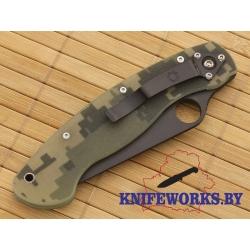 Spyderco Military CAMO черный клинок