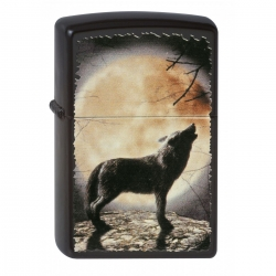 Zippo Wolf Howling to Moon