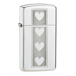 Zippo Heart High Polish Chrome