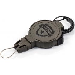 Ретрактор T-Reign, большой, с карабином, чёрный