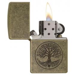 Zippo Tree of Life, Antique Brass