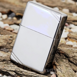 Zippo Vintage w/ Slashes High Polish Chrome