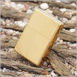 Zippo Vintage w/ Slashes High Polish Brass