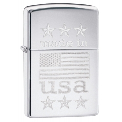 Zippo Made in USA With Flag