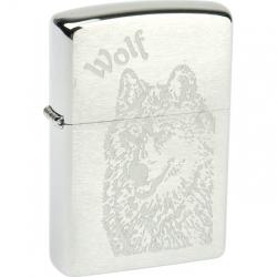Zippo Classic Wolf Brushed Chrome