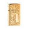 Zippo Slim® Venetian® High Polish Brass