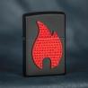 Zippo Bling Flame Emblem, Black Matte