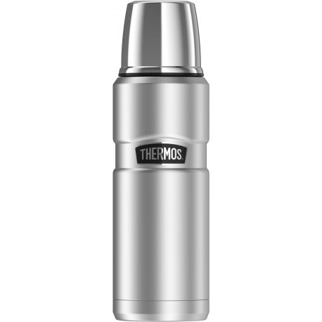 Thermos Stainless King Vacuum-Insulated Beverage Bottle, 16 oz/470 ml, Silver