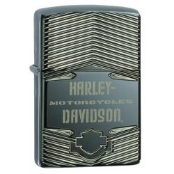 Zippo Armor Harley-Davidson Deep Carved, Black Ice