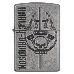 Zippo Harley Davidson - Antique Silver