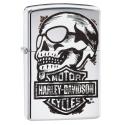 Zippo Harley Davidson Skull - High Polish Chrome
