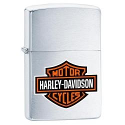 Zippo Harley Davidson Logo - Brushed Chrome