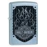 Zippo Harley Davidson Black Flames - Street Chrome