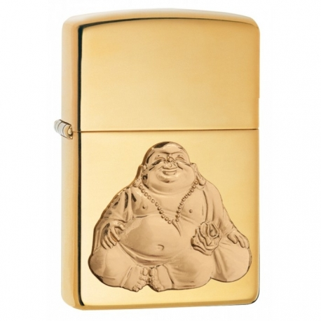 Zippo Buddha Emblem - High Polish Brass