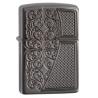 Zippo Armor Deep Carved Design - Black Ice