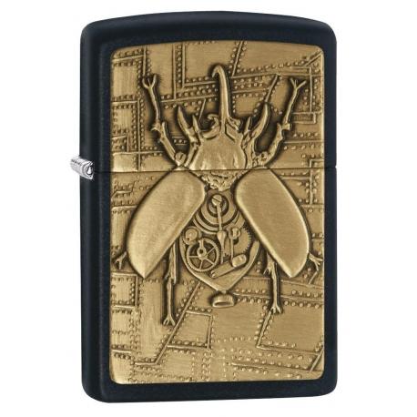 """Zippo """"Steampunk Beetle"""" Black Matte"""