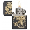"Zippo ""Joker-Skull and Top Hat"" Black Matte"