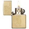 "Zippo ""Paisley Design"" High Polish Brass"