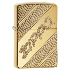 "Zippo ""Deep Carved Armor"" High Polish Brass"