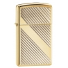 "Zippo ""Lines Design"" High Polish Brass Slim"