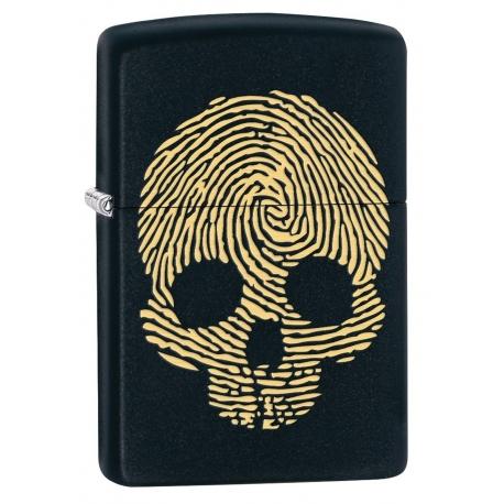 Zippo Skull Thumbprint