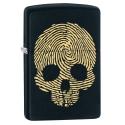 Zippo Engraved Skull Thumbprint - Black Matte