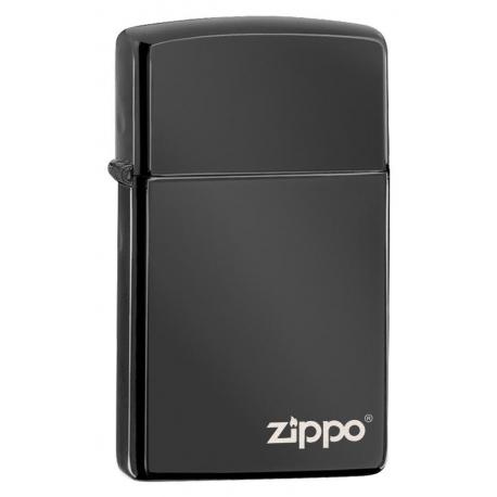 Zippo Slim® High Polish Black Logo