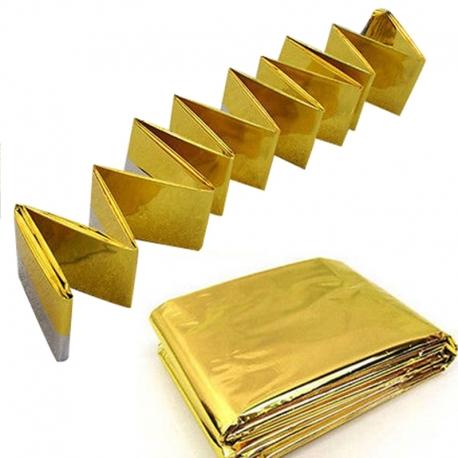 Vertex essentials Emergency Blanket Gold