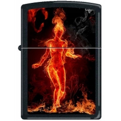 Zippo Flaming Girl