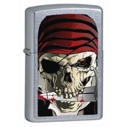 Zippo Street Chrome Pirate Skull Lighter
