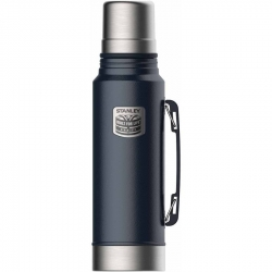 Stanley Classic Bottle Badged Navy Blue 1.1qt